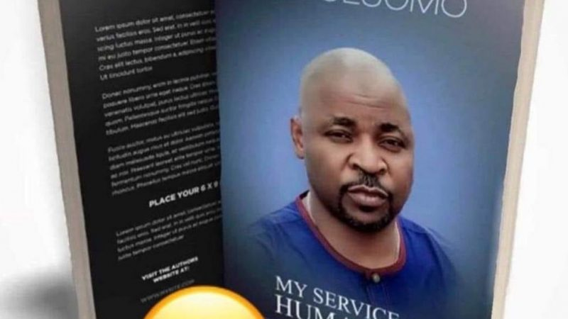 MC Oluomo's book 'My service To Humanity' is going Viral (pictures)